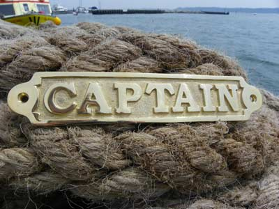 Brass Captain Sign