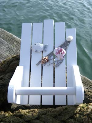 Beach themed Toilet roll holder - nautical bathroom accessory