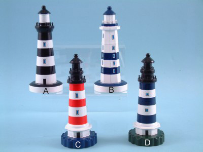 Large Wooden Lighthouse Model