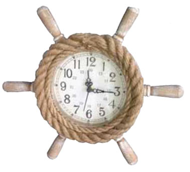 Rope Ship's wheel clock