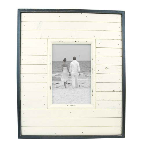 Beach hut picture frame
