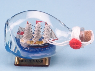 Mini Cutty Sark Ship in Dimple Bottle