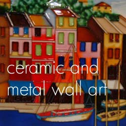 Ceramic and metal nautical style art